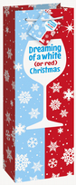 Red & White Christmas Bottle Gift Bag
